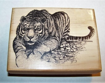 Bengal Tiger New Mounted Rubber Art Stamp