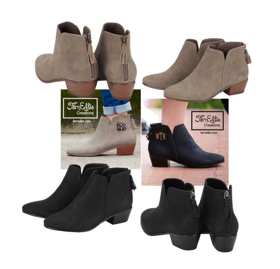 SHIPS OUT NEXT Day! Monogrammed Boots, Personalized Boots, Embroidery, Monogram Shoes, Hudson Boots