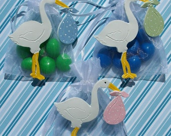 Baby shower, gender reveal, gender neutral baby, baby shower, baby boy, baby girl, party favors, baby shower decorations, stork
