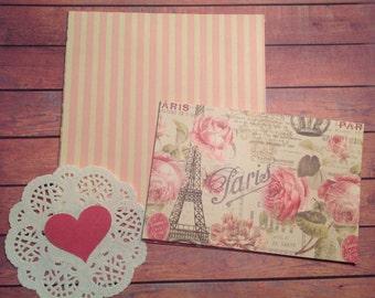 6 x 6 scrapbook paper pack, 24 assorted papers, Destash, 4 x 6 scrapbook paper,  variety pack, mixed paper pack, value pack