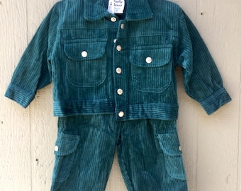 Green Corduroy Suit 12 Month