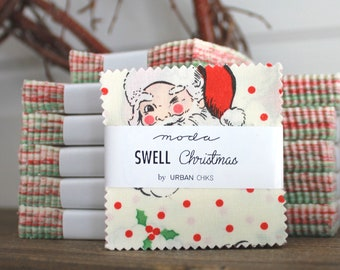 "Swell Christmas by Fig Tree for Moda Mini Charm Pack 2.5"" Squares"