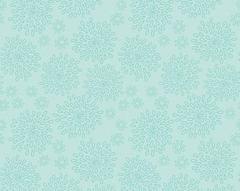 Summer Clearance Lulabelle Petal in Mint Fabric by Riley Blake - Half Yard