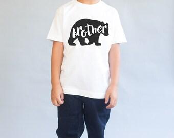 Bear Graphic Tee - Brother Bear Shirt - Baby Bear Shirt - Boy Bear Shirt - Little Bear Shirt - Little Brother Shirt - Big Brother Shirt