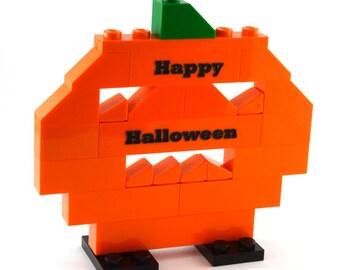 Personalized LEGO® bricks PUMPKIN HALLOWEEN engraved