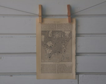 1894 Vintage Map of Rio de Janeiro