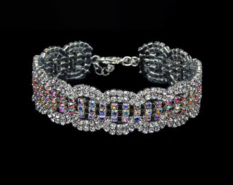 Brielle AB Crystal Competition Bracelet for IFBB and NPC Bikini Fitness Bodybuilding Contests