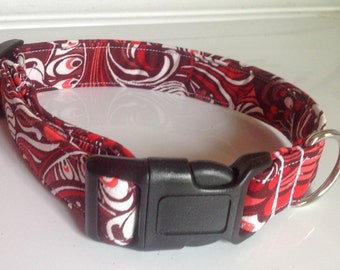 Cherry Red Dog and Cat Collar