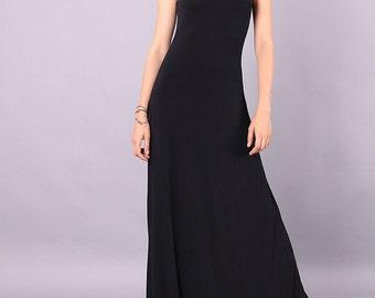 Maxi Dress, Black Dress, Long Dress, Party dress, Floor length Dress, Tight Dress, Sleeveless Dress, Tank Dress, A-line UrbanMood CO-SARA-VL