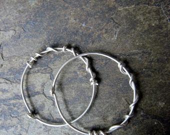 choose your metal hoop earrings, skinny hoop earrings, titanium hoops, minimalist earrings, sterling silver hoop-- handmade by thebeadedlily