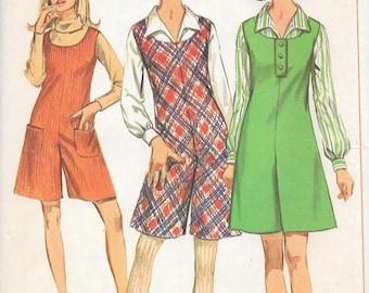 Vintage 1960s Simplicity Sewing Pattern 7174- Misses' Pantjumper size 16 bust 36 uncut FF