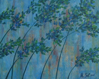 Original Acrylic Painting on Canvas, Windflaw, Abstract painting by Michael Sol, 20x16