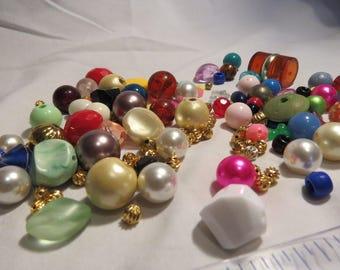 Vintage Plastic Beads, Retro