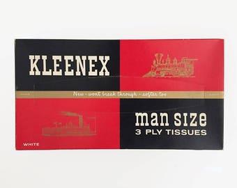Kleenex Man Size Tissues - Vintage