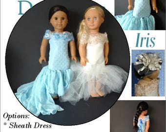 Pixie Faire Karen Lorraine Design Iris Doll Clothes Pattern for 18 Inch Dolls Such As American Girl - PDF