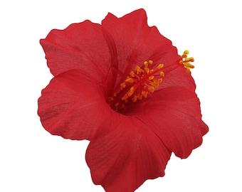 Hawaiian Hibiscus Flower Hair Clip, 5 Colors Available