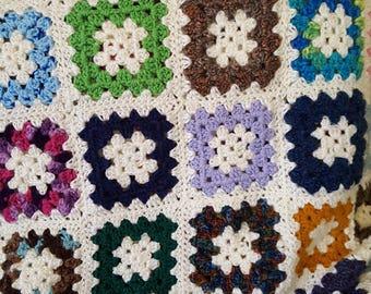 Crochet Granny Squares Throw