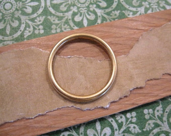 Small Open Frame Hoop in Antique Gold by Nunn Design