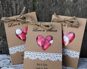 30 Love Is Sweet Personalized Wedding Favors