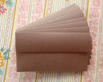 "Customizable - HANDmade KRAFT Paper Envelopes : Pack-of-9  // No. 6 sz. (3-5/8"" X 6-1/2"") Self-Adhesive. Great for Everyday & Holiday Gifts"