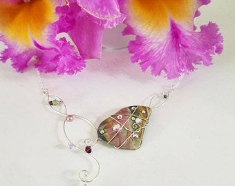 Ocean's Orchid Necklace.