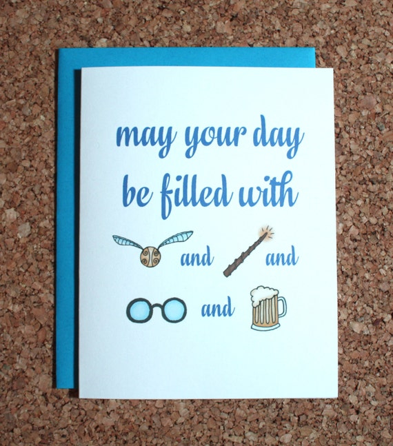 Harry Potter Card / Filled With Harry Potter / Birthday Card