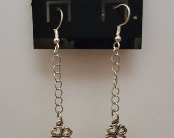 Dangle clover earrings st Patrick's day