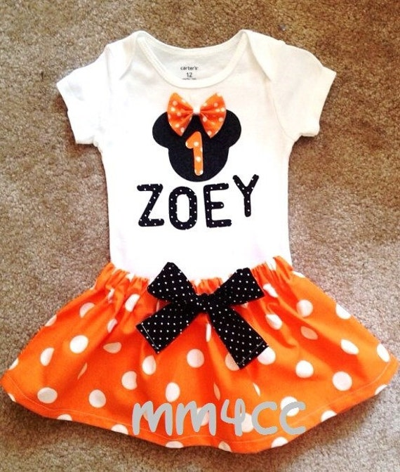 Minnie Mouse Outfit Dress First Halloween Birthday Party