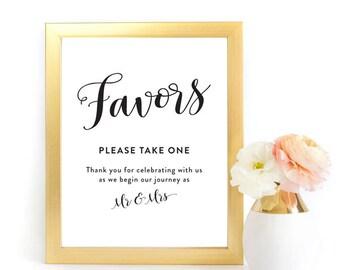 Favors Wedding Printable, Favors Sign, Wedding Sign, Wedding Printables, Printable Sign, Favors for Guests