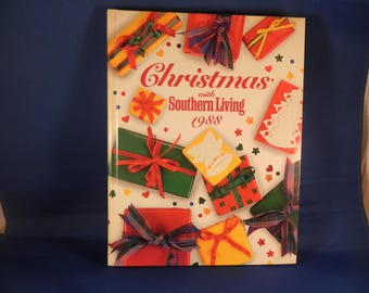 Vintage Christmas Craft/ Coookbook/ Home Decorating Southern Living 1988