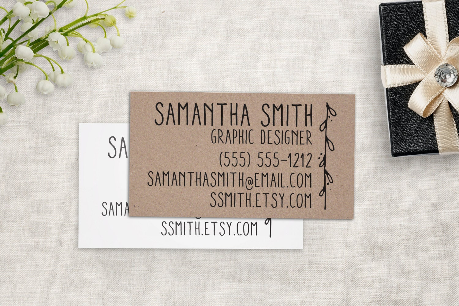 Business Card Stamp Custom Business Cards or Etsy Shop