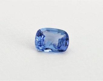 GIA Certified 1.16 Cts. Cushion Cut Cornflower Blue Sapphire