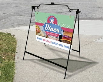 """24"""" x 18"""" A Frame Sidewalk Sign - Full Graphic Design and Printing"""