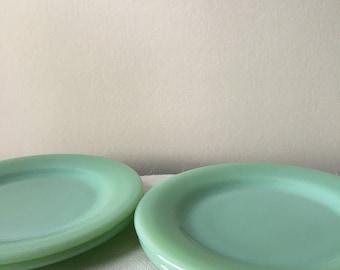 Vintage Fire KIng Jadite Jadeite Salad Plates FireKing 2 Restaurant Ware
