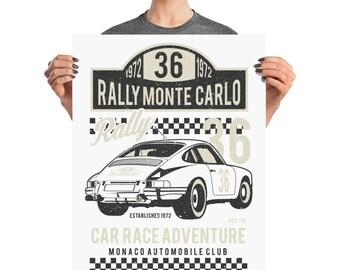 Rally Monte Carlo Car Race Adventure Rally 36 Poster