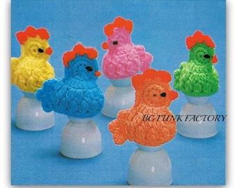 Chicken Egg  Cozies Crochet Pattern Home Decor Vintage 1970's Crochet Pattern Instant Download