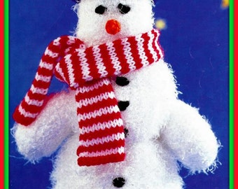 PDF Knitting Pattern For Christmas Festive Toy - Cute Snowman - Instant Download