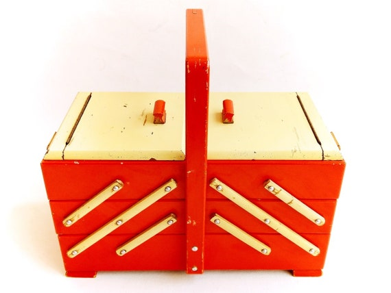 Sewing Box Wooden Jewelry Organizer Storage Box Jewelry