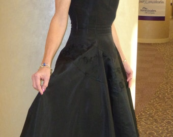 Inky Black Elegant JoDee 1940-1950 Dress**FABULOUS***