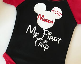 Disney Onesie, My First Trip to Disney, Disney Baby