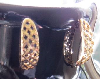 14kt Gold Half Hoop Yellow Gold Pierced Earrings