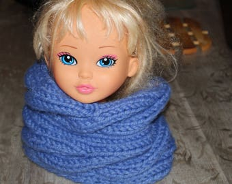 collar snood in blue