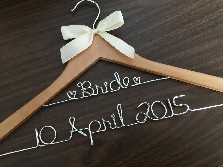 Aufhänger mit Draht Namen Hochzeitsfotos Brautgeschenk