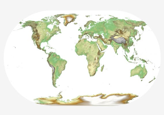 Beautiful world map print physical world map art travel map beautiful world map print physical world map art travel map print world map poster planet earth map world map wall decal earth map gumiabroncs Image collections