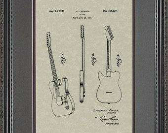 Guitar Patent Artwork Player Musician Guitarist Gift F4227