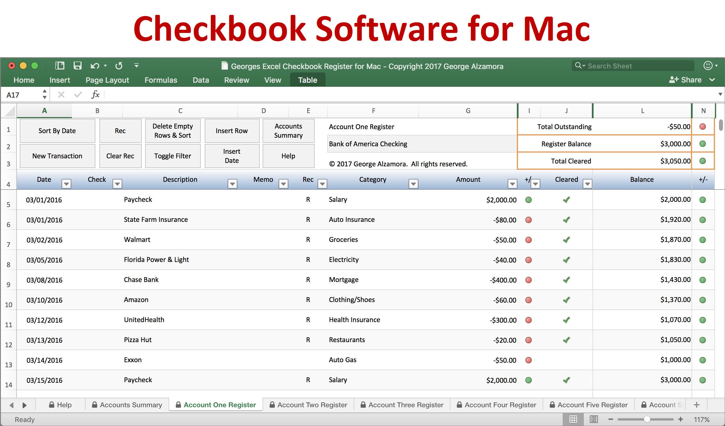 Excel budget spreadsheet template and checkbook register checkbook register for mac excel checkbook spreadsheet software for mac computers mac checkbook register alramifo Images