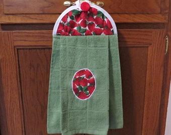 Strawberry Towel Kitchen Towel Hanging Kitchen Towel Dish Towel Tea Towel
