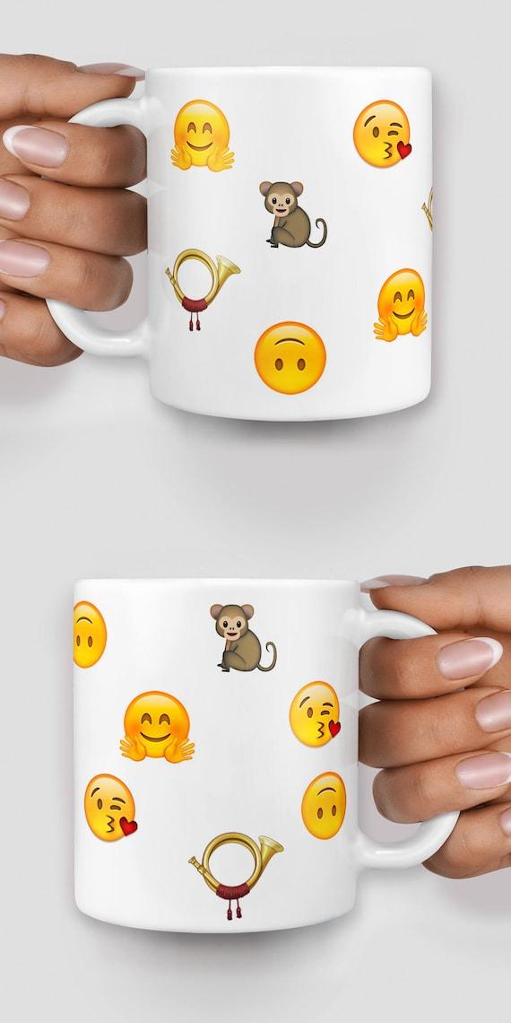 Customized emoji mug, personalise your mug with emojis - Christmas mug - Funny mug - Rude mug - Mug cup 4P074