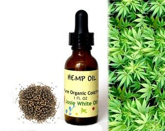Organic unrefined Cold Pressed Hemp Oil
