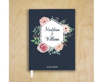 Guest Book Wedding Guest Book Wedding Guestbook Bridal Shower Guest Book Vintage Floral Wedding Guest Book Wedding Sign In Book Wedding Gift